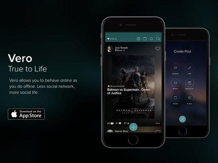 app store vero reseau social smartphone