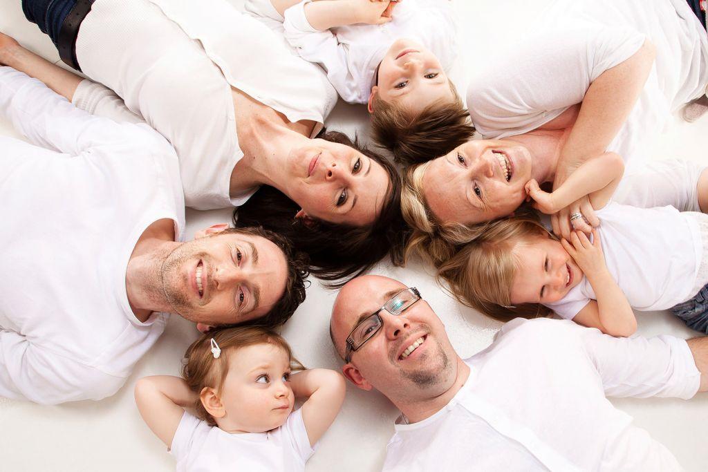 Shooting photo famille blanc
