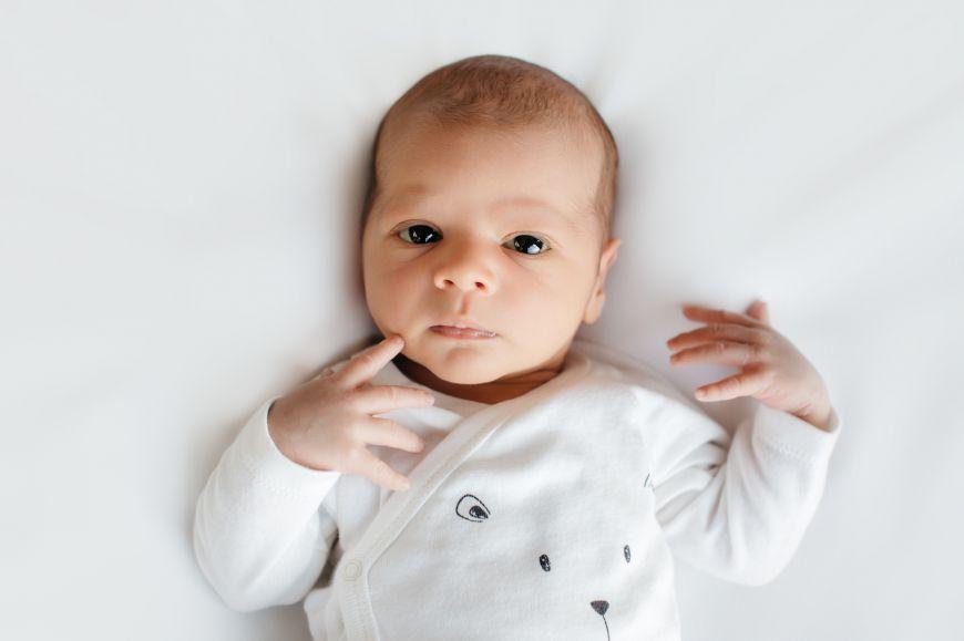 shooting photo bébé blanc