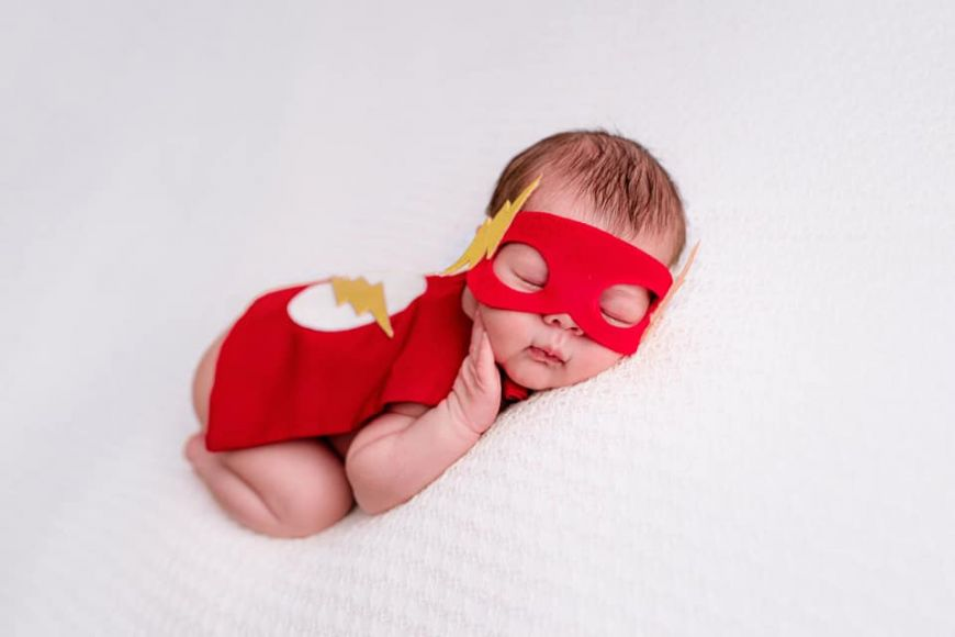 photographe bébé the flash costume