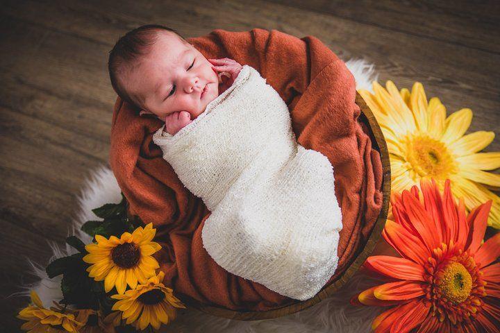 photographe bébé automne