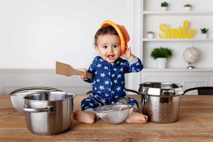 portrait enfant bébé cuisine couleurs