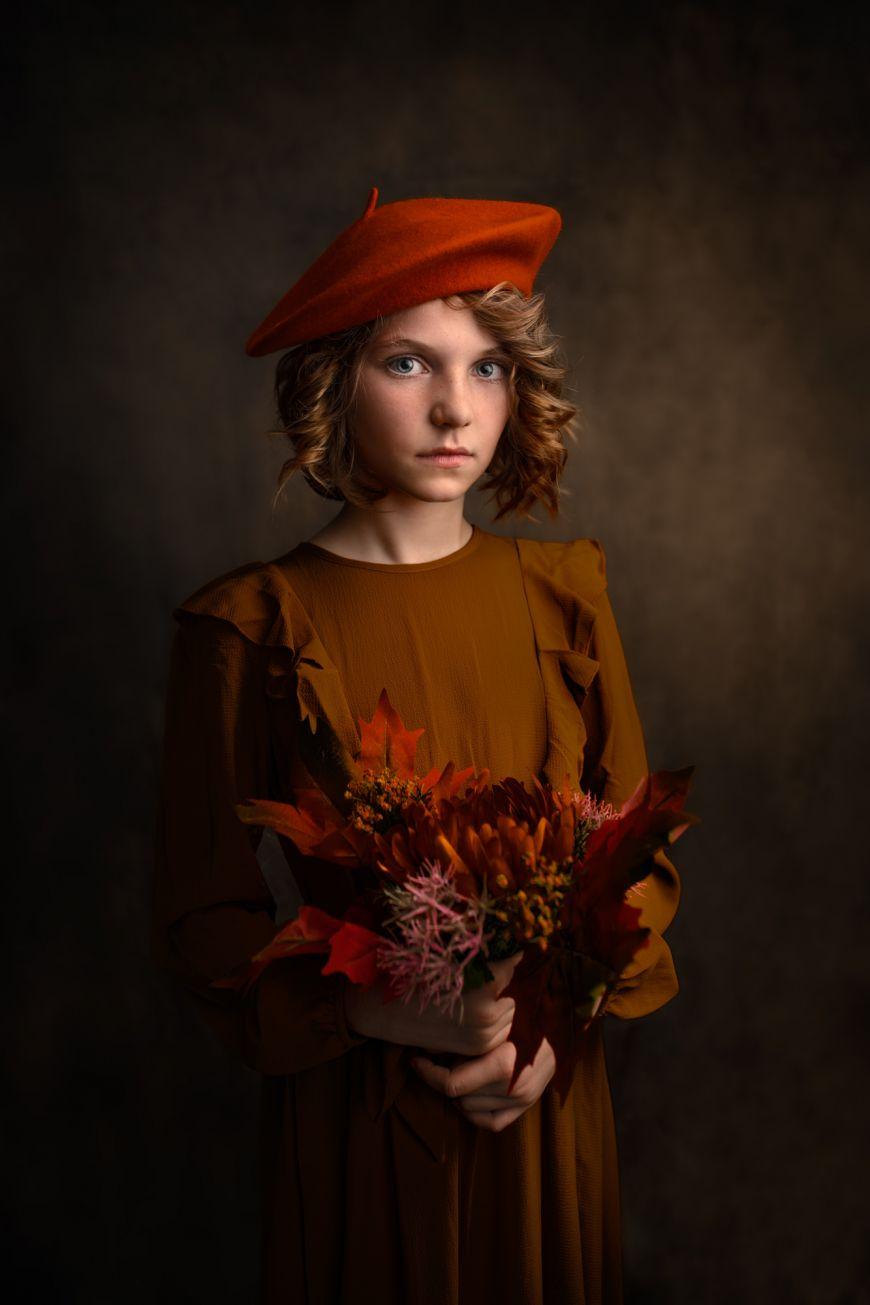 portrait enfant fille couleurs