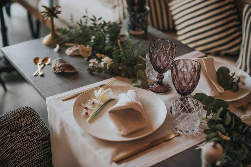 Table dressée mariage